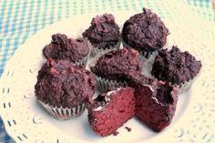 Chocolate Beet Muffins: beets, eggs, salt, coconut milk, coconut flour, almond flour, cocoa powder, vanilla, cinnamon, stevia/honey