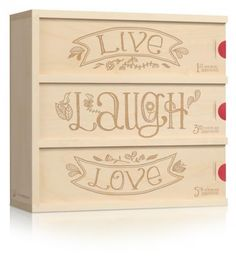 another fab personalized wine box created to age 3 bottles of wine for future anniversary celebrations. you have the option to add your own wine or select a wine package from their wine partners so you can have the complete box shipped directly to the couple (a great option in case you are not able to make it to the wedding)!