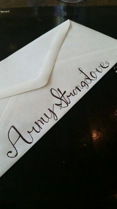 fun way to decorate standard envelopes when sending letters to soldiers army armystrong