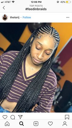 cute braided hairstyles for black womens Box Braids Hairstyles, Braided Hairstyles For Black Women Cornrows, Baddie Hairstyles, Black Girls Hairstyles, African Hairstyles, Hairstyles Pictures, Hairstyles Videos, Quick Hairstyles, Everyday Hairstyles