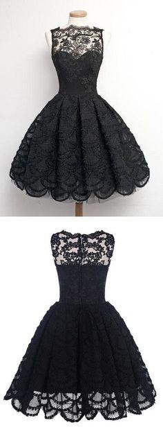vintage dress, vintage style homecoming dress, black homecoming dress,40