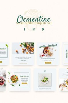 Clementine Social Media Template is an all-in-one template! You can use this template whether you're from Food & Beverage Industry or from what industry you're in. Each of these banners is easy-to-use, change everything in just a few clicks. Social Media Banner, Social Media Branding, Social Media Template, Social Media Design, Food Graphic Design, Menu Design, Banner Design, Flyer Design, Layout Design