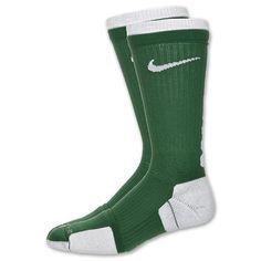 Nike Elite 2 Layer Basketball Crew SocksGreen/White