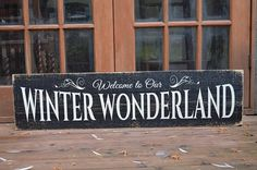 Wooden Christmas Sign Welcome To Our Winter Wonderland Rustic Wood Sign Painted Christmas Sign Christmas Decor Country Christmas Sign Distressed Wood Signs, Reclaimed Wood Signs, Painted Wood Signs, Painted Letters, Rustic Wood Signs, Wooden Signs, Christmas Signs, Winter Christmas, Christmas Decorations