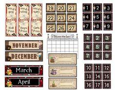 pirate calendar materials (including a calendar for HW folder)