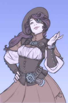 Steam-G by ardenrey, Deviantart Character Design Girl, Character Concept, Character Art, Character Creation, Steampunk Drawing, Steampunk Artwork, Girls Characters, Dnd Characters, Steampunk Characters