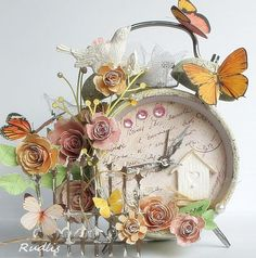 altered shabby clock