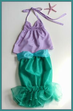 Little Mermaid Costume Costumi Fatti In Casa 6c02554603a3