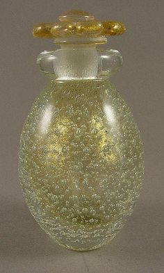 Murano Archimede Seguso Bullicante Perfume Bottle 50s