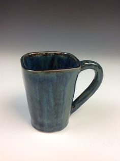 Teresa L - ceramics 1 mug - gorgeous low fire layered glazes