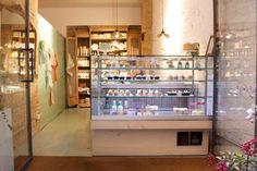 Mostrador y diseño de la tienda