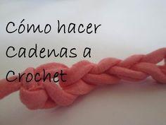 Clase 2 - Cómo hacer cadeneta a Crochet / Ganchillo. Técnica paso a paso - YouTube
