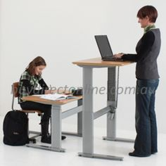 Conset Low Sit To Stand Height Adjustable Sit Stand Desk. One of the best height ranges available. Sit Stand Desk, Sit To Stand, Adjustable Height Table, Adjustable Desk, Office Table, Home Office Desks, Office Furniture, Office Workstations, Office Items