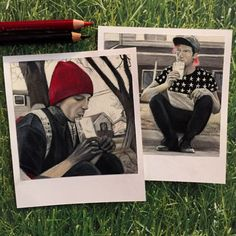 Stressed Out Print of Polaroid Drawing by thisismyshopbye on Etsy