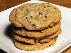 <p>Once again I am using a (slightly modified) recipe from my favorite cookie cookbook* to make, in my humble opinion, the best chocolate chip cookies ever!</p><p>Directions</p><p>Active time: 30 minutes</p><p>Total time: 1 hour</p><p>Place oats in the bowl of a food processor fitted with metal blade and process until finely ground.  Transfer the ground oats to a large mixing bowl and add in flour, baking powder, baking soda, and salt. Set aside.</p><p>Put the butter in the bowl of a…
