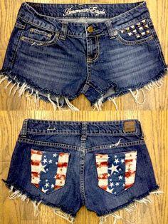 USA shorts studded American eagle