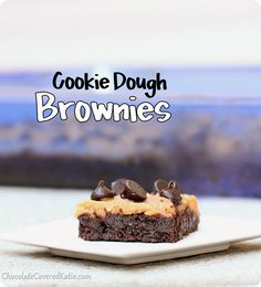 Secretly Healthy Cookie Dough Brownies: http://chocolatecoveredkatie.com/2014/02/21/cookie-dough-brownies/