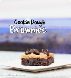 Secretly Healthy Cookie Dough Brownies