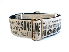 You Are My Sunshine Martingale Dog Collar. $32.00, via Etsy.