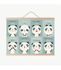 Lámina infantil panda emociones