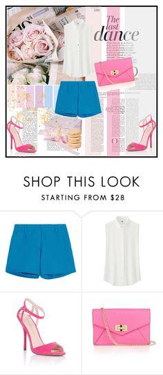 """Think pink"" by ivana-fashion ❤ liked on Polyvore featuring Anja, Iris & Ink, Uniqlo, Lipsy, Diane Von Furstenberg and Mikimoto"