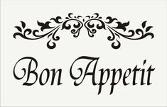 Bon Appetit  Reusable STENCIL  4 Sizes Available Create