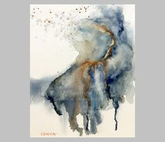 ORIGINAL ABSTRACT WATERCOLOR Painting Loose by VickieSueCheek