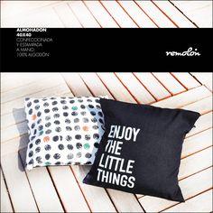 Almohadones estampados en serigrafía Little Things, Throw Pillows, Deco, Toss Pillows, Cushions, Decorative Pillows, Decor, Deko, Decorating