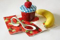 Erdbeer - Bananen - Marmelade Chutneys, Healthy Eating Tips, Healthy Nutrition, Vegetable Drinks, Marmalade, Food Menu, Fruits And Vegetables, Brunch, Food And Drink