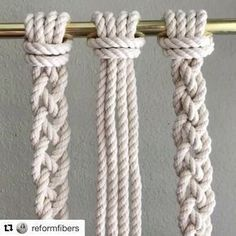 """712 Likes, 2 Comments - Creativemamy™ (@creativemamy) on Instagram: """"Utile !!! #Repost @reformfibers with @repostapp ・・・ How to Tie a 4 Cord Braid // This video shows…"""""""