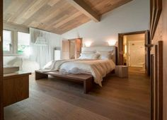 Ski chalet in the Rhone-Alpes, France. #WhiteBedroom