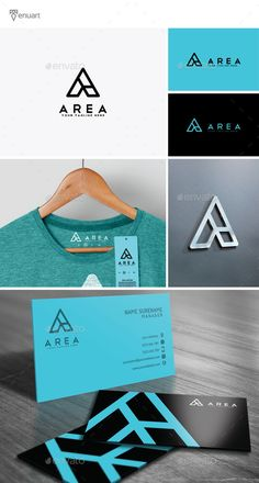 Area - Letter A Logo by Tenuart Logo Template Features A great and simple logo CMYK Editable and resizable vector files Editable text and color Included AI, PSD a Brand Identity Design, Corporate Design, Branding Design, Ecole Design, Graphisches Design, Logo Design Template, Logo Templates, Urban Fashion Girls, Urban Fashion Trends