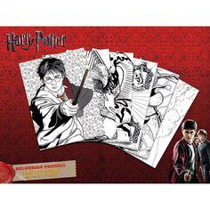 Set di 6 poster da colorare a tema #HarryPotter. Dimensioni: 30 x 40 cm.