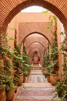 Inside the Bulgari Family's Opulent Marrakech Riad - The entrance arcade, which leads from the medina, comprises a succession of arches of Moroccan bric - Architecture Design, Islamic Architecture, Morrocan Architecture, Arcade Architecture, Moroccan Design, Moroccan Decor, Moroccan Bedroom, Moroccan Style, Moroccan Lanterns