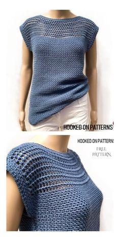 Pull Crochet, Mode Crochet, Crochet Cardigan, Knit Crochet, Crochet Sweaters, Crochet Clothes For Women, Diy Crochet Clothes, Crochet Summer Tops, Crochet Tops