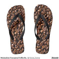 Minimalism Conceptual Coffee Beans Shop Flip Flops