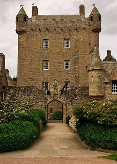 Cawdor Castle is set amid gardens in the parish of Cawdor, approximately 10 miles east of Inverness and 5 miles southwest of Nairn in Scotland. The castle is built around a 15th-century tower house, with substantial additions in later centuries.