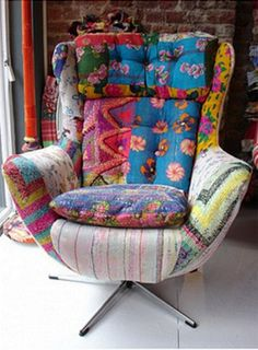 Quilts + Color: Perfect Patchwork Furniture