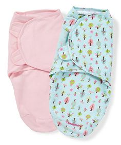 Love this Pink & Light Blue Tree SwaddleMe Set by SwaddleMe on #zulily! #zulilyfinds   2 for $14.99!
