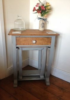 Wooden Nest of Tables painted grey