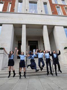 Sydenham school celebrating outside IET London: Savoy Place