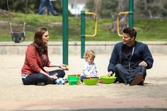 Family play date...before creepy serial killer dude calls Booth to tell him he will kill five random people if he marries Bones. Yeah, it looks peaceful now.