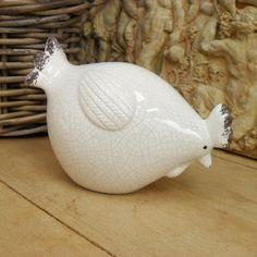 Crackled Ceramic Hen