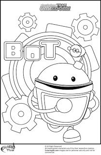 Print out this adorable Umicar and dump truck coloring ...