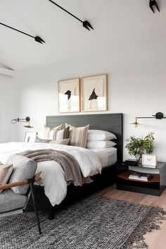 Transitional Office Master Suite in 2020 Home bedroom Cheap bedroom decor Home decor bedroom Cheap Bedroom Decor, Room Ideas Bedroom, Bedroom Inspo, Home Decor Bedroom, Bedroom Interior Design, Modern Bedroom Design, Modern Master Bedroom, Bedroom Designs, Modern Farmhouse Bedroom