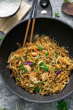 The BEST Chicken Chow Mein Noodles are SO easy to make w/ authentic Chinese restaurant quality ingredients! Perfect for skipping takeout! Better & healthier