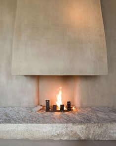 The Greenwich Hotel TriBeCa Penthouse by Axel Vervoordt + Tatsuro Miki – casalibrary Architecture Details, Interior Architecture, Interior And Exterior, Custom Fireplace, Fireplace Design, Ideas Terraza, Greenwich Hotel, Interior Decorating, Interior Design