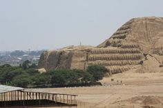 Huaca de la Luna and Huaca del Sol were ceremonial structures for the ancient Moche Culture built in the Moche Valley as part of a capital city called Cerro Blanco by modern day archaeologists.