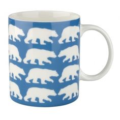 Following our fascination with foxes last month, for November we're loving polar bear print. This ceramic mug would make a perfect gift for an animal lover!