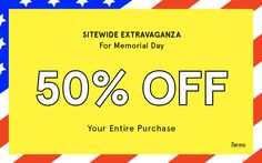 50% off your @justfabonline purchase during the Memorial Holiday Weekend! #shopping  ends 5/26 @ 11:59 PM PDT Must check out as VIP or Elite